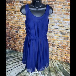 J. Taylor Navy Blue Semi Sheer Dress Size 4